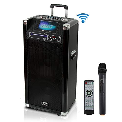 Pyle Karaoke Vibe Bluetooth PA Speaker System, Audio & Video Wireless Entertainment System, Microphone Included