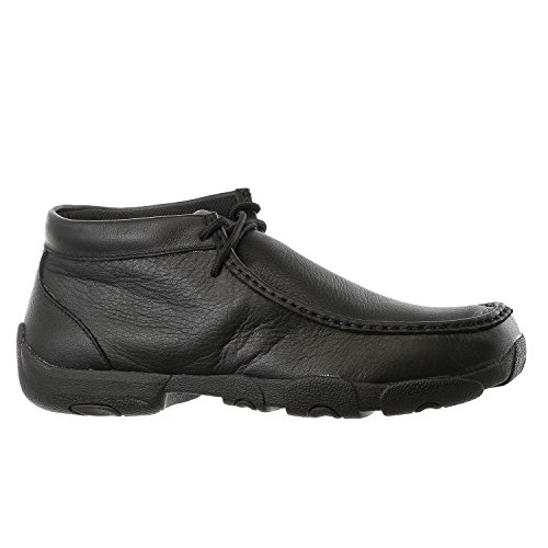 Twisted X Mens Black Leather Driving Mocs Casuals for Cowboy