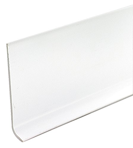 Tile Base Cove - M-D Building Products 73897 4-Inch by 60-Feet Dry Back Vinyl Wall Base, White