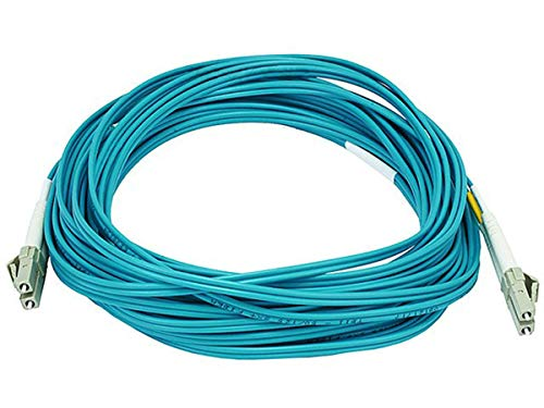 (Monoprice 106389 10-Meters LC/LC Multi Mode Duplex 10GB Fiber Optic Cable - Aqua)
