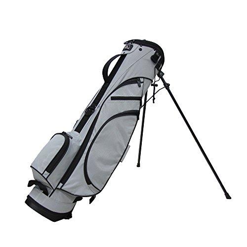 RJ Sports Typhoon Mini Stand Bag, Grey/Black, 6″