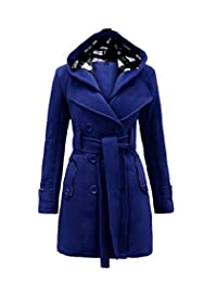 Cartiar® Women's Hooded Plus Size Padded Coats Faux Fur Parka Jacket Outwear