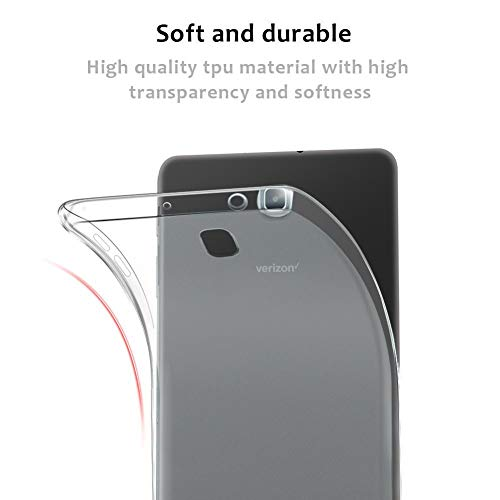 Galaxy Tab A 8.0 2018 Version SM-T387 Case DWaybox Transparent Clear TPU Gel Soft Back Case Cover for Samsung Galaxy Tab A 8.0 Inch 2018 SM-T387 (Clear)
