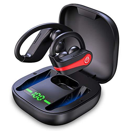 Wireless Earbuds, Motast Bluetooth 5.1 Sport Headphones IP7 Waterproof 40H Playtime Earhooks Headset with Charging Case…
