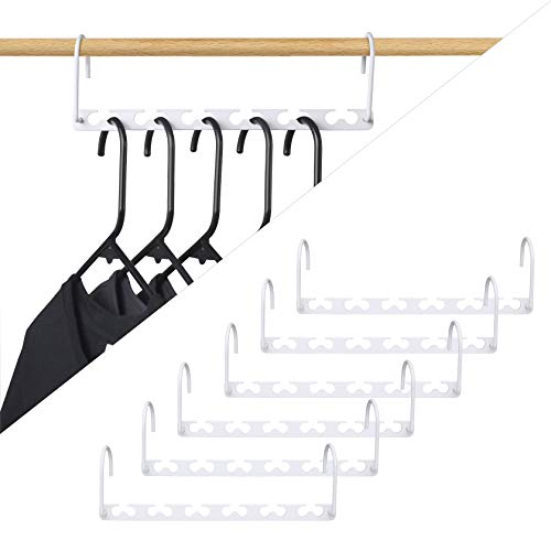 HOUSE DAY 6pcs Magic Hangers Closet Space Saving Wardrobe Clothing Hanger Oragnizer Heavy White Coating Hangers, Updated Hook Design (6) by HOUSE DAY (Image #6)
