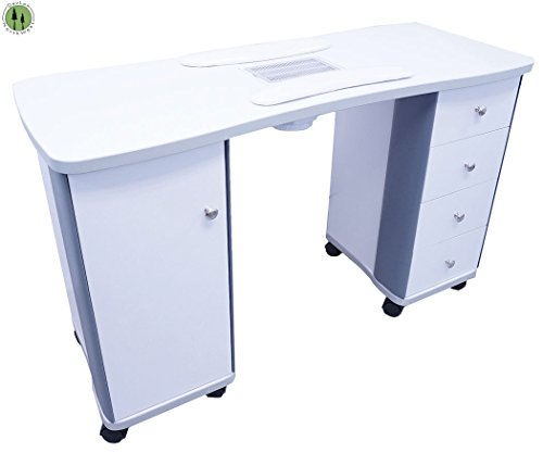 Professional Manicure Table W/ Fan Wheels 4 Pull Out Draw...