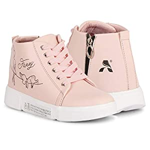 Carrito Synthetic Leather Casual Boots Shoes for Womens and Girl Pink