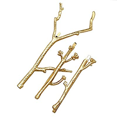 RechicGu Chic Runway 3Pcs Tree Branch Hair Pin Headband Dress Snap Barrette Clip Fascinator