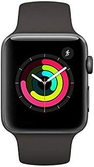 Apple Watch Series 3, 42 Mm, Alumínio Cinza Espacial, Pulseira Esportiva Preto E Fecho Clássico, Mql12Bz/A