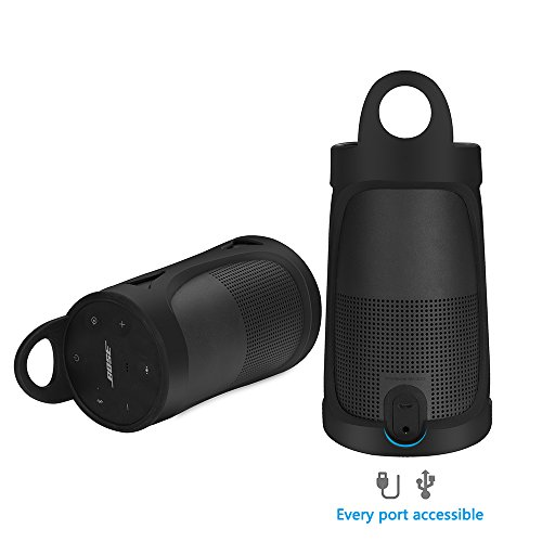 Pusingbest Silicone Carrying Case Sling Cover for Bose SoundLink Revolve Port...