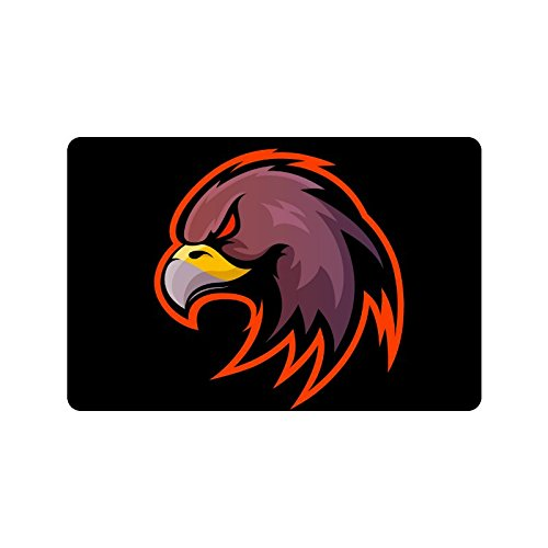 ADEDIY Non Slip Door Mat Be Careful Hawk In Machine Washable Doormat Indoor Outdoor Floor Mat 23.6x15.7 Inch Home Office Bedroom