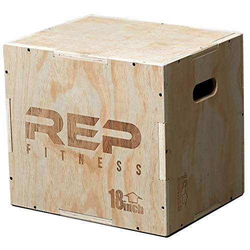 - Rep 3 in 1 Wood Plyometric Box for Jump Training and Conditioning 20/18/16