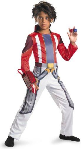 Disguise Bakugan Battle Brawlers - Dan Child Costume White/Red Medium (7/8) (Dan Costume Classic)