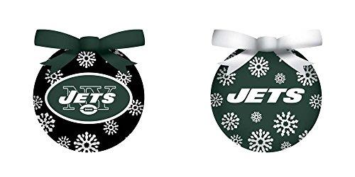 New York Jets Boxed LED Ornament Set (New York Jets Team Timer)