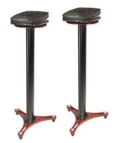 Ultimate Support MS-100R MS Series Professional Column Studio Monitor Stand with Adjustable Angle and Axis - Red
