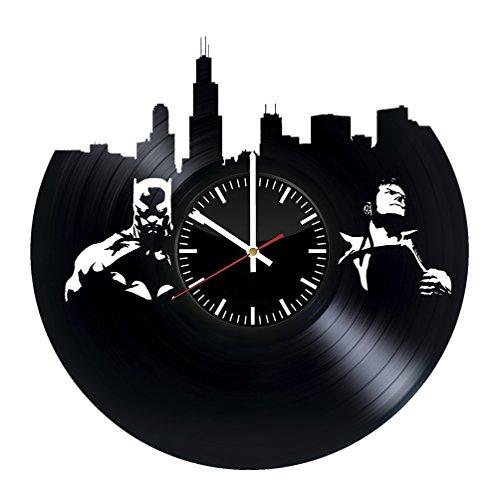 Batman Arkham Origins New 52 Costume (Batman vs Superman Design Vinyl Record Wall Clock - Get unique bedroom or garage wall decor - Gift ideas for friends, brother – DC Comics Legends Unique Modern Art)