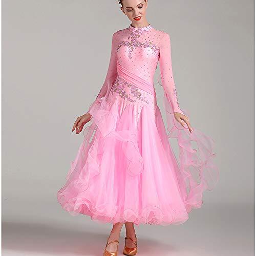 Sizexl Symbollife Cpdz Rumba Robe Rhythm Danse Professionnelle Rose Grand Ballroom Latine Femme Samba Tango Salsa Dames 2xl xl qqZY1