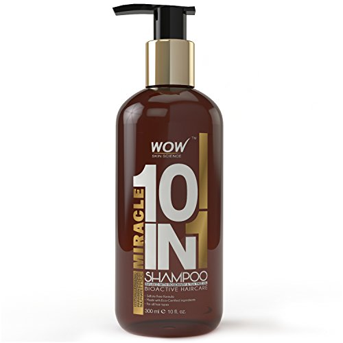WOW Miracle 10 in 1 Shampoo - Infused with Organics - Tea...