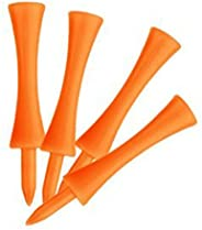 LIOOBO 100pcs 70mm Large Castle Golf Tees (Orange)