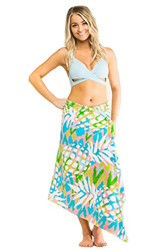 1fa7e6c578 Simple Sarongs Women's Beach Towel Swimsuit Cover-up Wrap All-In-One  Pineapple Multi