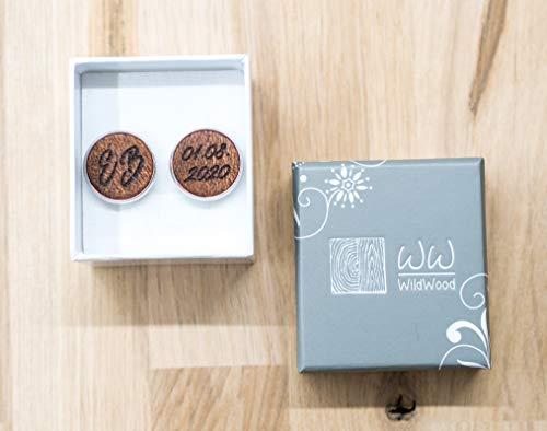 Trauzeugen Geschenk Hochzeit Manschettenkn/öpfe Br/äutigam Geschenke gravierte Manschettenkn/öpfe personalisierte Holz Manschettenkn/öpfe