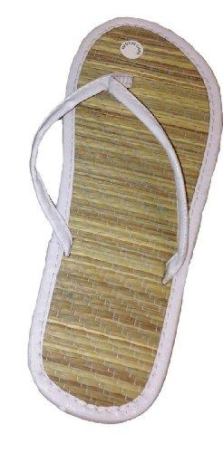 New Bamboo Sandals Womens Flip Flops Flats Shoe Velvet Thongs Beach Summer Heel 3/4