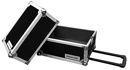 Marathon eLIGHT Series Ma-Lphw Deluxe Lp Case Holds 100 Pcs with Handle and Wheels Marathon Professional