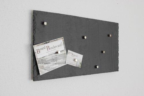 Magnetwand Magnettafel (Echter Stein) ! - Pinnwand aus Schiefer in 50 cm x 25 cm