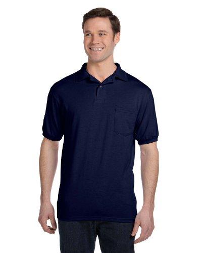 Hanes Men's 5.2 oz Hanes STEDMAN Blended Jersey Pocket Polo, 3XL-Deep (50 Blended Jersey Polo)