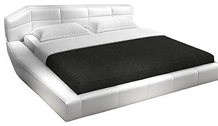 Amazon.com: J&M Furniture Dream White Leather Queen Size Bedroom Set ...
