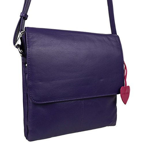 Bag Purple Leather Woman Bad Crossed Purple Purple F5Xxq