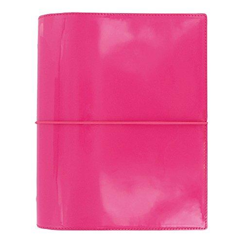 """Filofax 2016 A5 Organizer, Domino Patent Pink, 8.25 x 5.75"""" (C022482-16)"""
