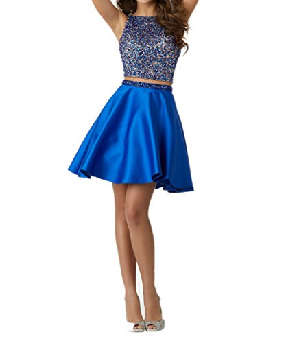 Jugendweihe Kurz Kleider Blau Ballkleid Festliche Charmant Kleider Royal Pailletten Blau Royal Abendkleider Damen mit Damen YwFWHHIxqz