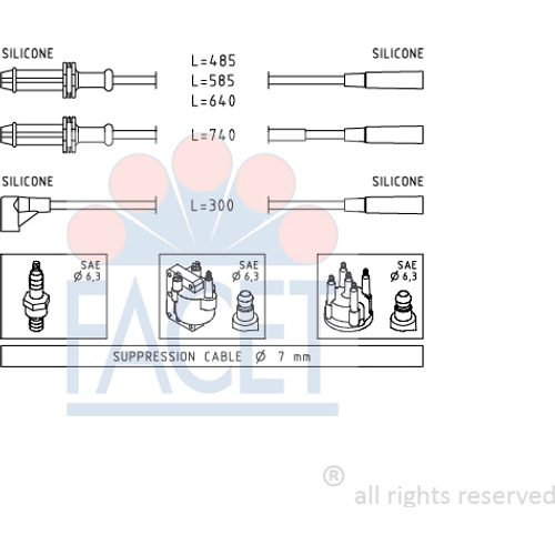 Facet 4.9376 Ignition Leads Kit: