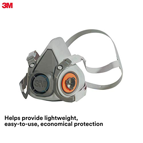 3M Half Facepiece Reusable Respirator 6300/07026(AAD), Respiratory Protection, Large (Pack of 1) from 3M Personal Protective Equipment