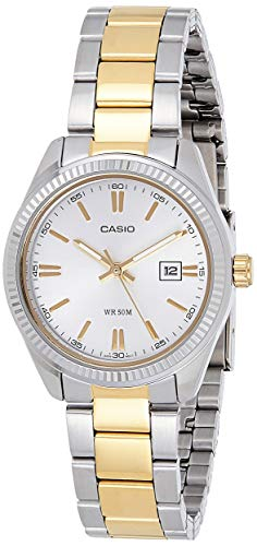 Casio Enticer Ladies Analog White Dial Women #39;s Watch   LTP 1302SG 7AVDF A478