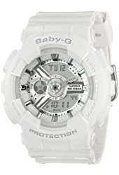 Casio Women's BA-110-7A3CR Baby-G Analog Display Quartz White Watch