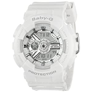 41dO27WnbeL. SS300  - Casio Women's BA-110-7A3CR Baby-G Analog Display Quartz White Watch