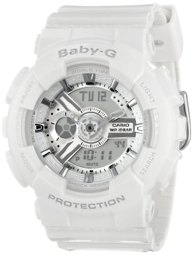 Casio Women's BA-110-7A3CR Baby-G Analog Display Quartz White Watch - White G Shock Watches For Women