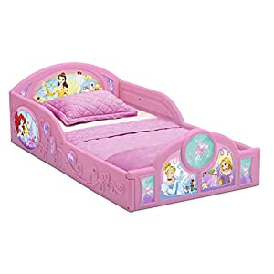 Delta Children Princess Sleep and Play Toddler Bed with Attached Guardrails | Features Colorful Graphics of Cinderella, Belle, Ariel and Rapunzel 17