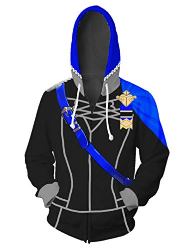 Nonaxi Cosplay Game Fire Emblem Three Houses Unisex Hoodies Sweatshirt Haloween Costumes (XL, Blue) (Fire Emblem Hoodie)