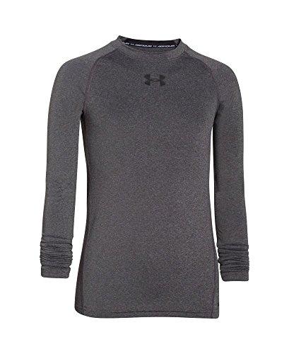 Boys' HeatGear Armour Long Sleeve Fitted Shirt, Carbon