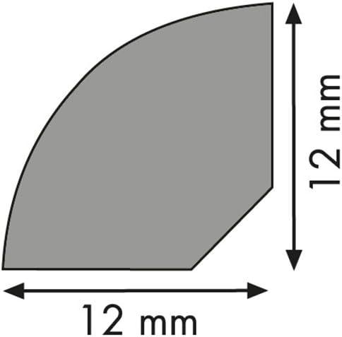 Viertelstab Bastelleiste Abschlussleiste Abdeckleiste aus unbehandeltem Kiefer-Massivholz 900 x 12 x 12 mm