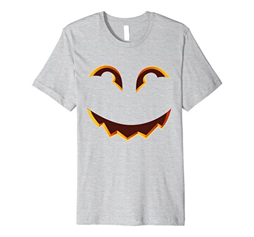 Clever Halloween Costumes For Two People (Mens Smiling Jack o Lantern Halloween 2017 T-shirt Medium Heather Grey)
