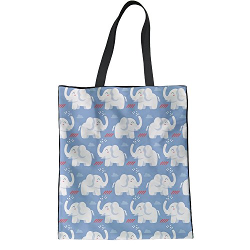 Bag Cartoon Tote Grocery Coloranimal Shopping Print Ladies Animal Cute Handbag 1 Elephant Cartoon xqxpwRYU