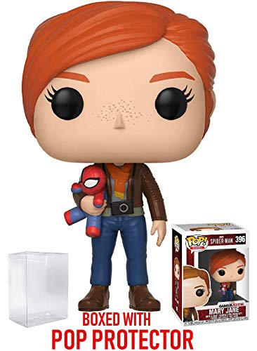 Funko Pop! Marvel: Spider-Man Video Game - Mary Jane Vinyl Figure (Bundled with Pop Box Protector Case) by Funko