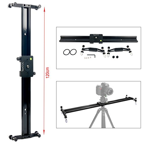 YaeCCC DSLR Camera Track Dolly Slider Video Stabilization Rail System, Perfect For Photography and Video (47''/120cm) by YaeCCC