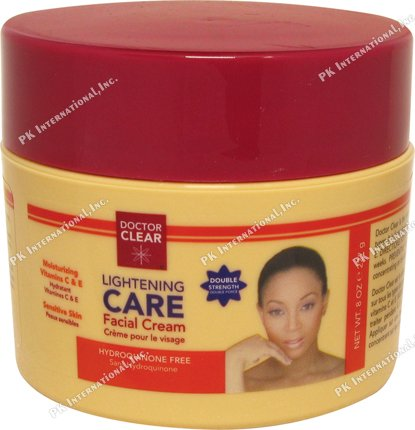 Doctor Clear Lightening CARE Facial Cream (Double Strength) 8oz (Skin Reviews Lightening Cream)