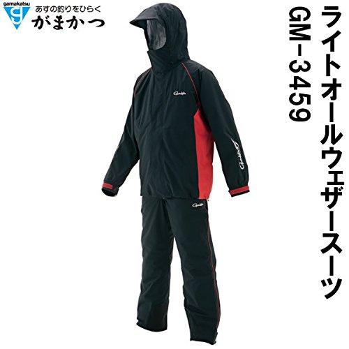 がまかつ(Gamakatsu) ライトオールウェザースーツ GM-3459 ブラック L 53459   B01NBGISHC