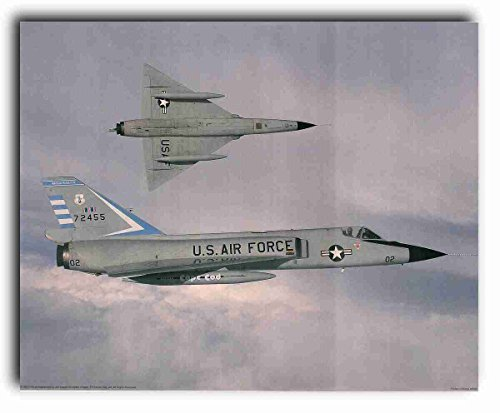 Aircraft Wall Decor Vintage Convair F-106 Delta Dart Interceptor Art Print Poster ()